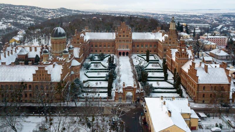 CERNIVCI, l'UCRAINA - residenza di Bukovinian e Metropolitans dalmata fotografia stock