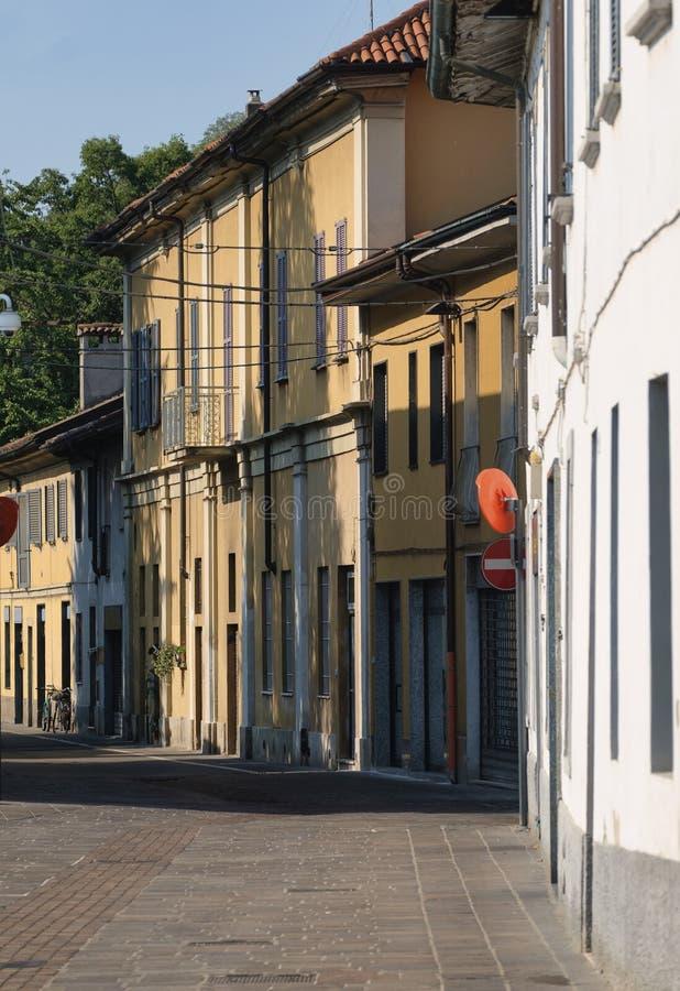 Cernusco sul Naviglio Μιλάνο, Ιταλία: κτήρια στοκ εικόνες με δικαίωμα ελεύθερης χρήσης