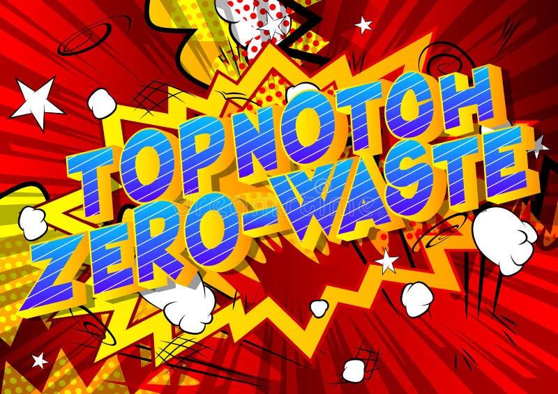 Cero-basura Topnotch - palabras del estilo del cómic libre illustration