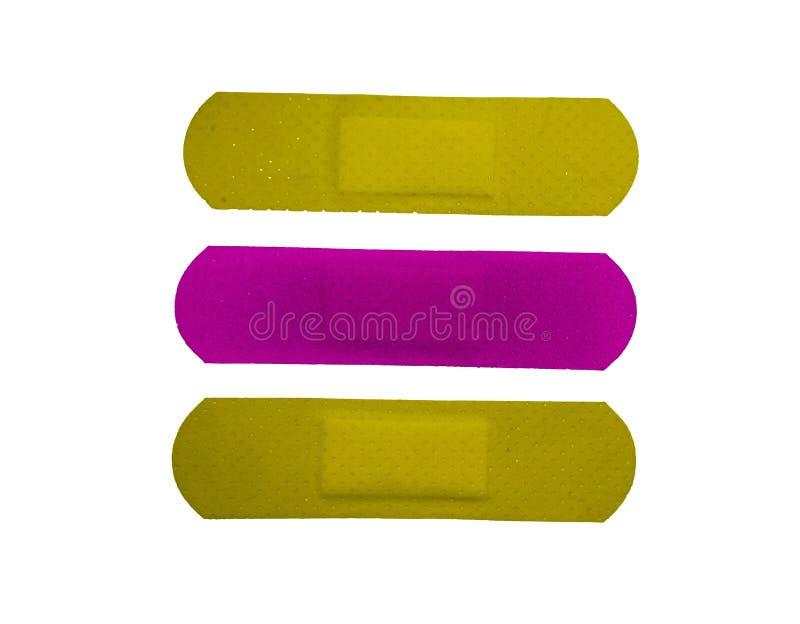 Cerotto, cerotto adesivo, fasciature adesive fotografie stock libere da diritti