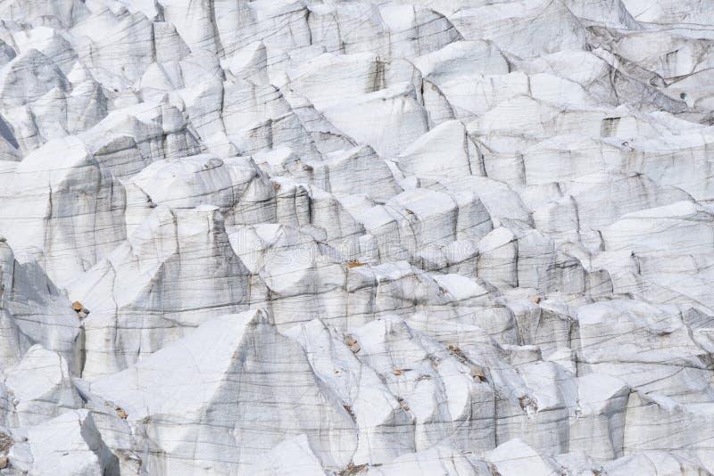 Cerrado para arriba del glaciar de Passu paquistán imagenes de archivo