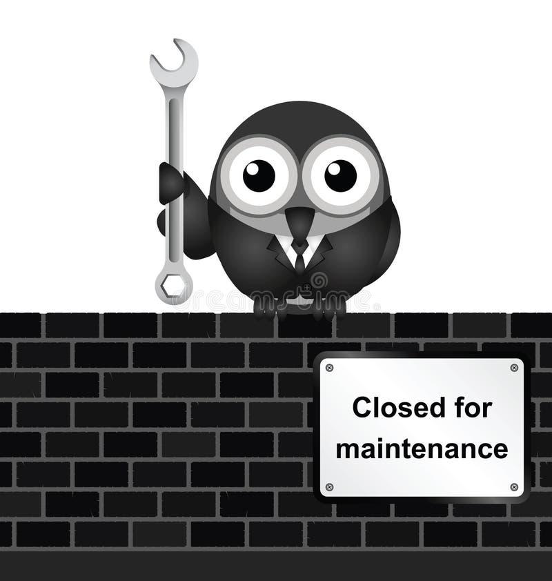 Cerrado para el mantenimiento stock de ilustración