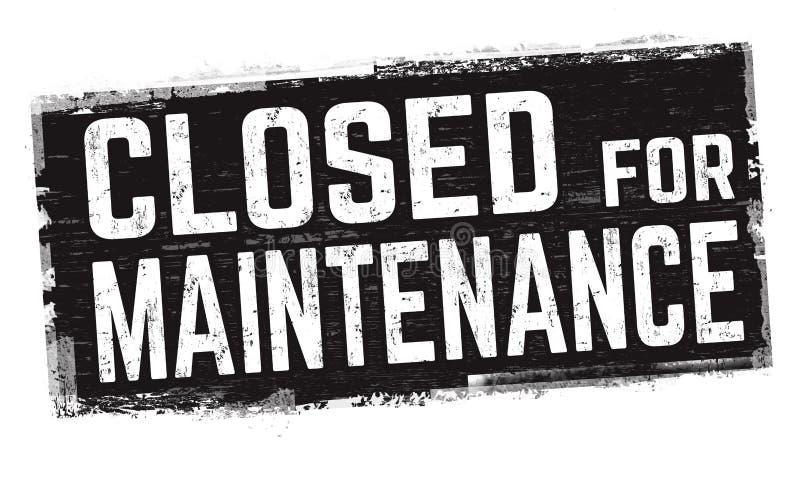 Cerrado para la muestra o el sello del mantenimiento stock de ilustración