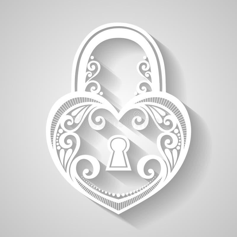 Cerradura adornada del vintage del vector stock de ilustración