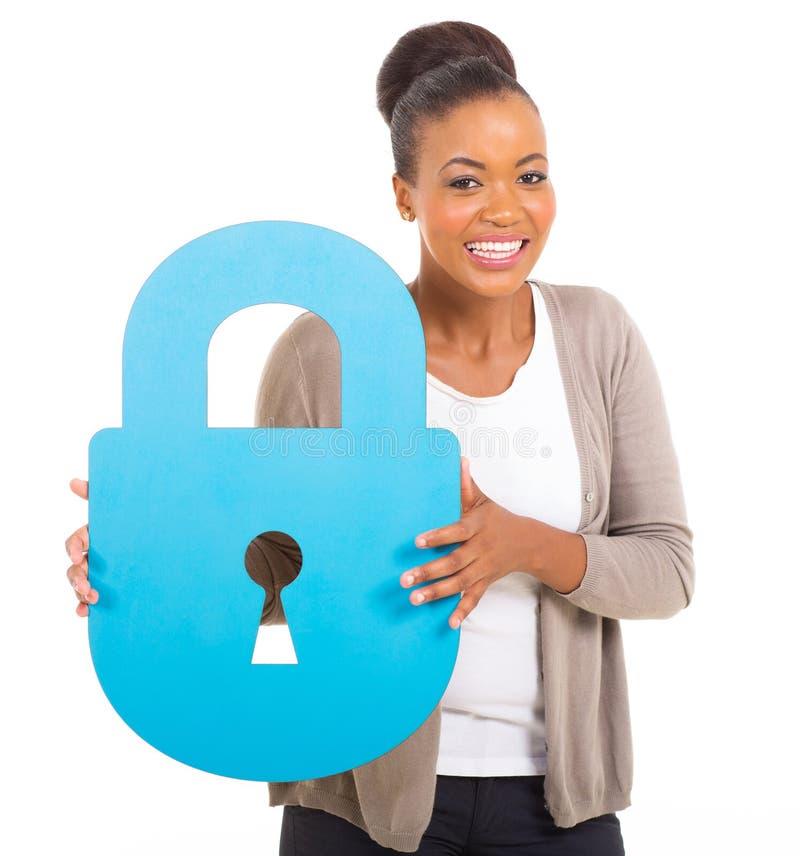 Cerradura afroamericana de la muchacha foto de archivo libre de regalías