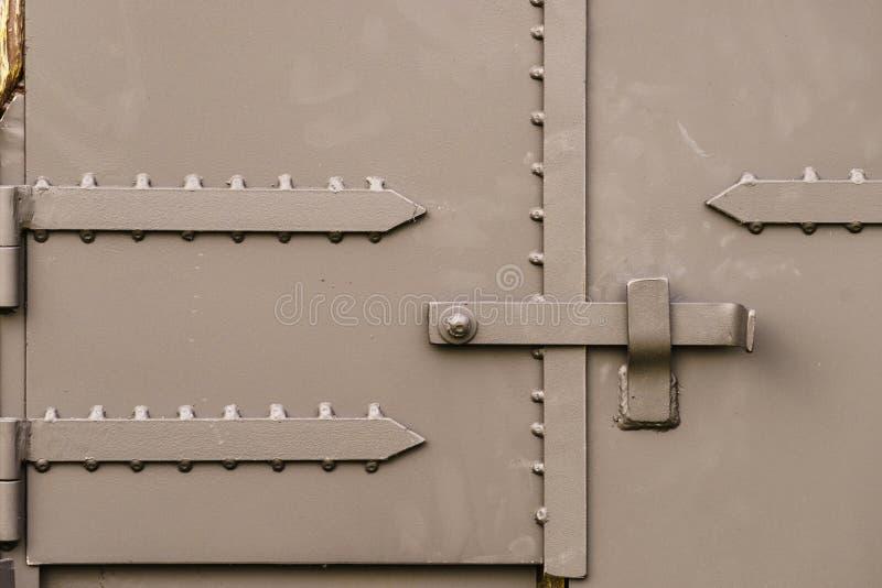 Cerradura de la manija del metal semi del remolque foto de archivo libre de regalías