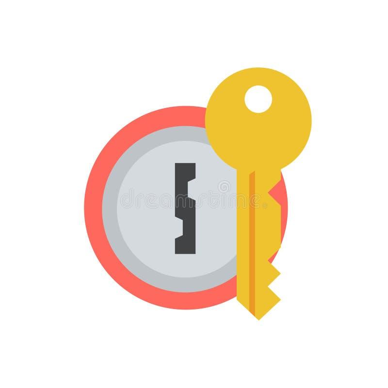 Cerradura de puerta con el icono dominante del vector ilustración del vector