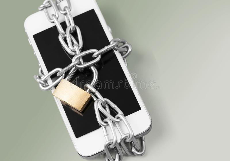 Cerradura del hurto del teléfono foto de archivo