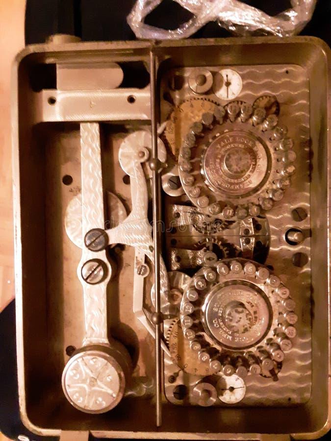 Cerradura 1875 del tiempo imagen de archivo libre de regalías