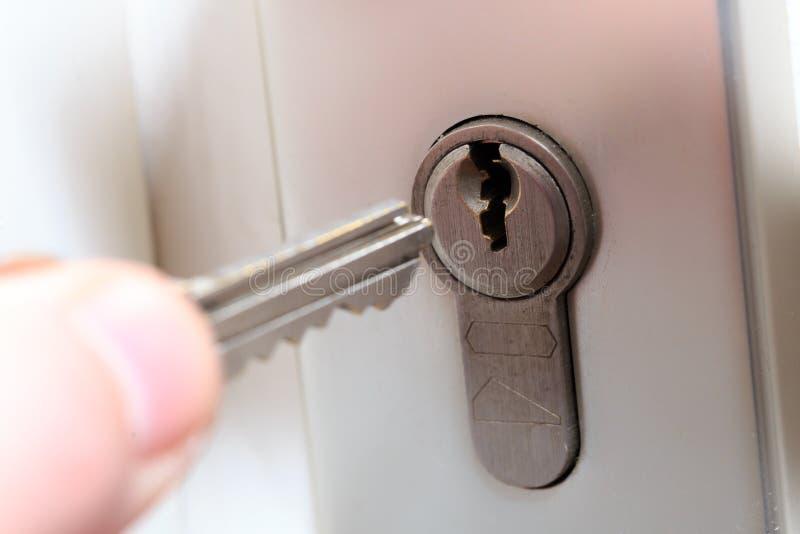 Cerradura y llave imagen de archivo libre de regalías