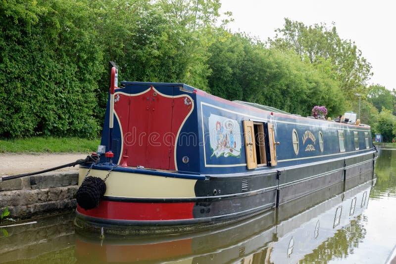 Cerraduras de Foxton en el canal magnífico de la unión, Leicestershire, Reino Unido foto de archivo libre de regalías