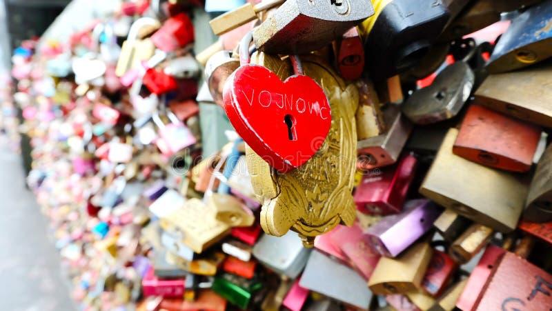 Cerraduras del amor, Colonia Alemania foto de archivo libre de regalías
