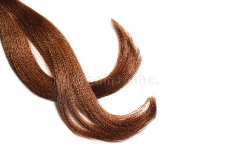 Cerraduras del pelo rojo sano imagen de archivo