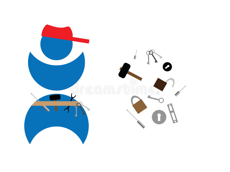 Cerrajero stock de ilustración