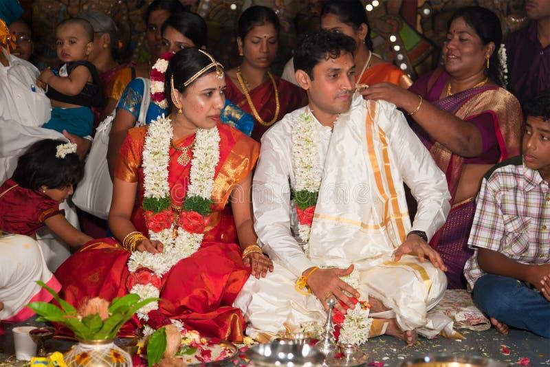 Cerremony Wedding traditionnel (Tamoul) indien images libres de droits