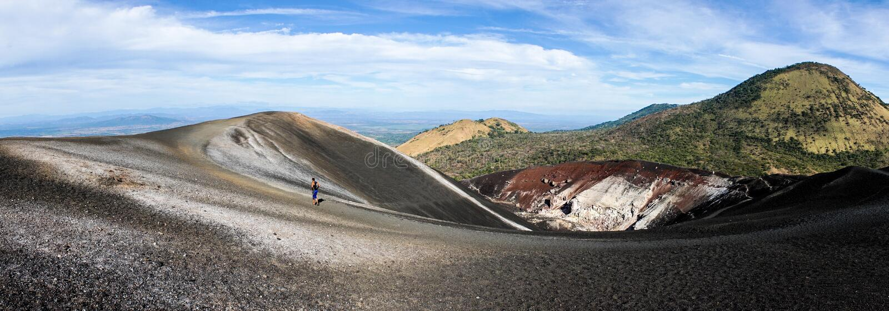 Cerro ηφαίστειο νέγρων στη Νικαράγουα στοκ φωτογραφίες