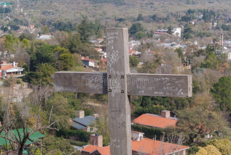 Cerro μέσω Crucis Santa Rosa de Calamuchita στοκ φωτογραφία με δικαίωμα ελεύθερης χρήσης