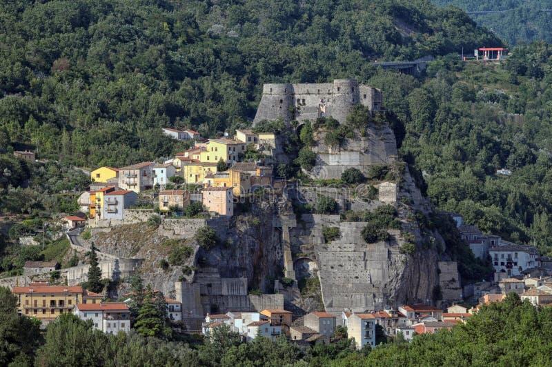 Cerro al volturno small village of Molise stock image