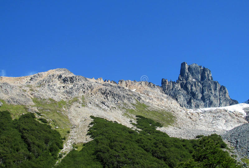 Cerro Castillo βουνό, Χιλή στοκ εικόνες