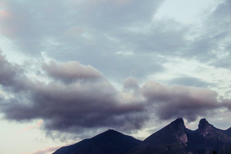 Cerro de la Silla mountain in Monterrey city royalty free stock photography