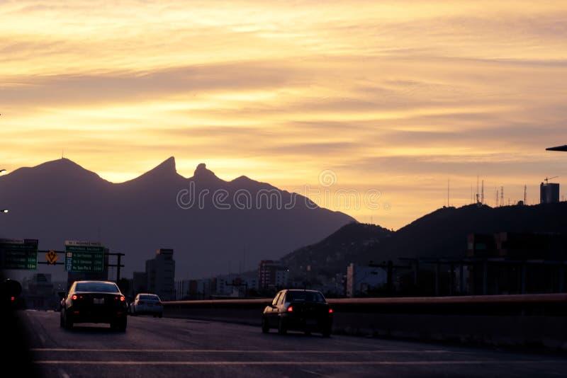 Cerro de la Silla mountain. Photograph of Cerro de la Silla mountain in Monterrey Mexico city royalty free stock photo