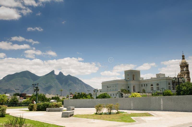 Cerro de los angeles Silla, Monterrey - obraz stock
