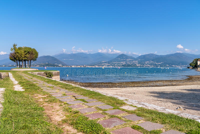 Cerro, is a fraction of Laveno Mombello on the shore of Lake Maggiore. Cerro, is a fraction of Laveno Mombello on the shore of Lake Maggiore, Italy royalty free stock photography