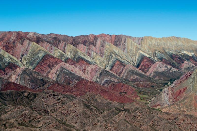 """Cerro Hornocal, Argentine """"la montagne de 14 couleurs """" images stock"""
