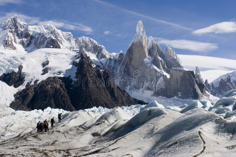 cerro lodowa s torre zdjęcie royalty free