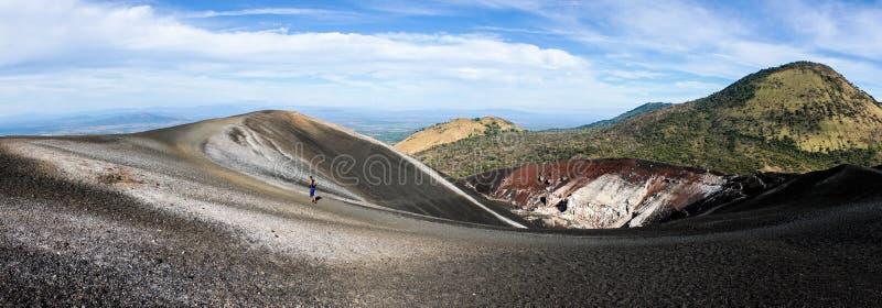 Cerro Negro Volcano in Nicaragua. Black ash stock photos