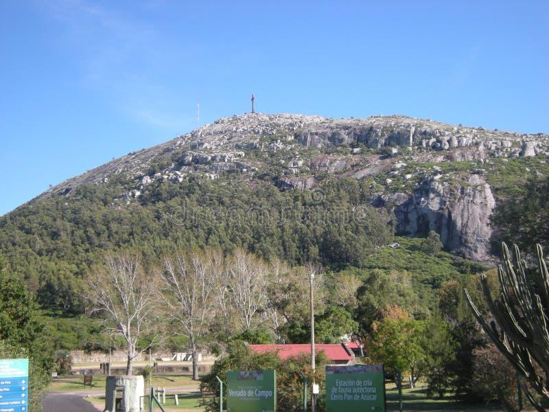 Cerro Pan de Azucar, paisaje de la montaña en el maldonado, Uruguay fotos de archivo libres de regalías