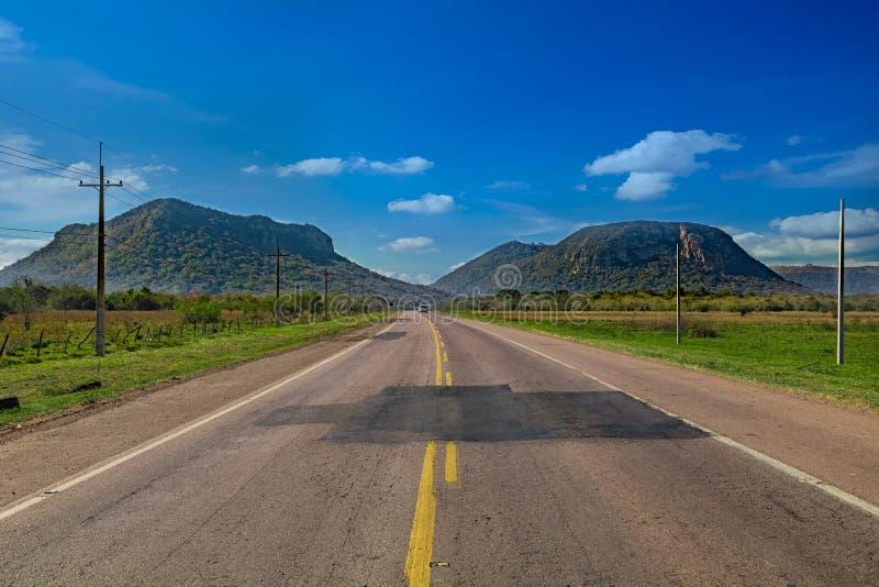 Cerro Paraguari är en av Paraguay ` s mest iconic gränsmärken i Paraguay arkivbild