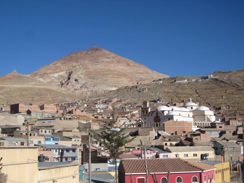 Cerro Ricco mijn Bolivië Potosi stock fotografie