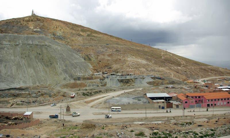 Cerro Rico, Potosi - Bolivien stockbild
