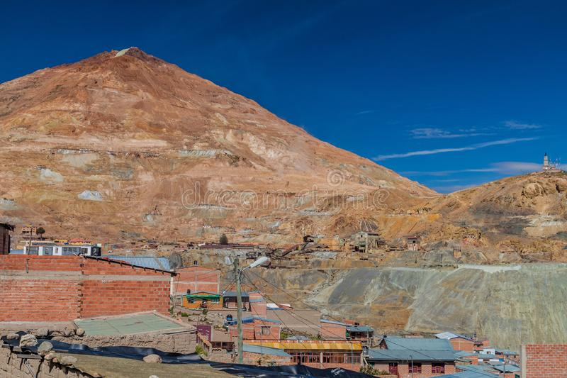 Cerro Rico Rich Mountain en Potosi fotografía de archivo libre de regalías