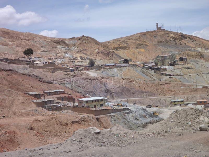 Cerro ricoheuvel met zilveren mijnen in Potosi royalty-vrije stock foto