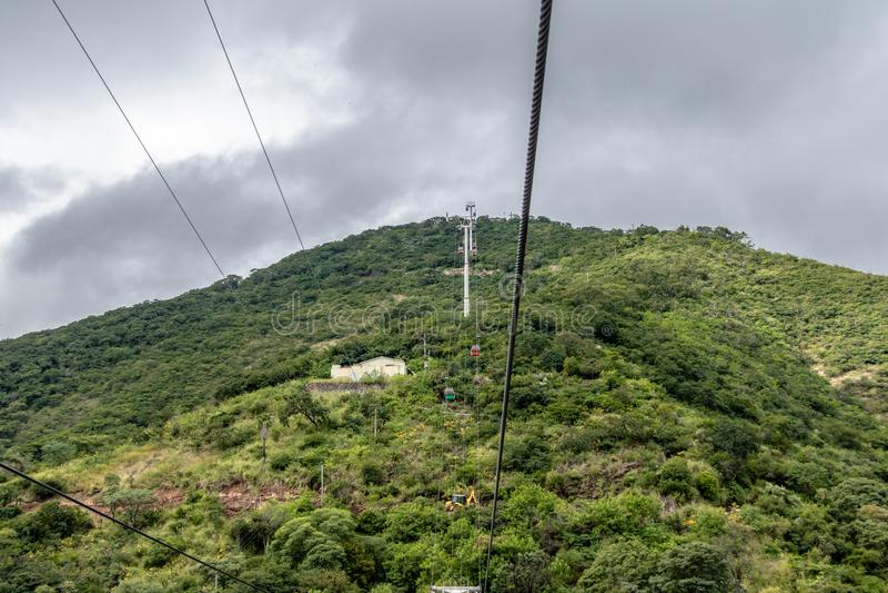 Cerro San Bernardo Hill Cable Car - Salta, Argentina. Cerro San Bernardo Hill Cable Car in Salta, Argentina stock photo