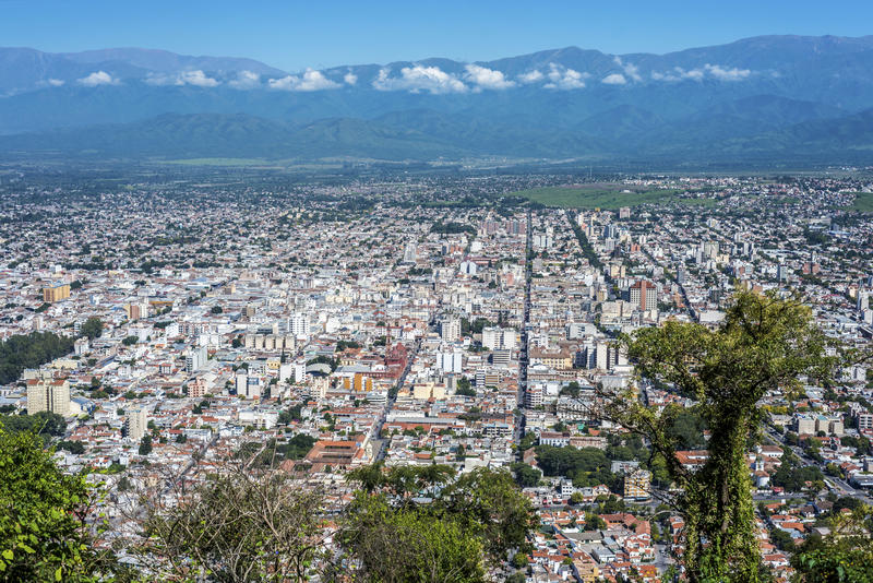 Cerro San Bernardo, Salta, Argentina. royalty free stock image