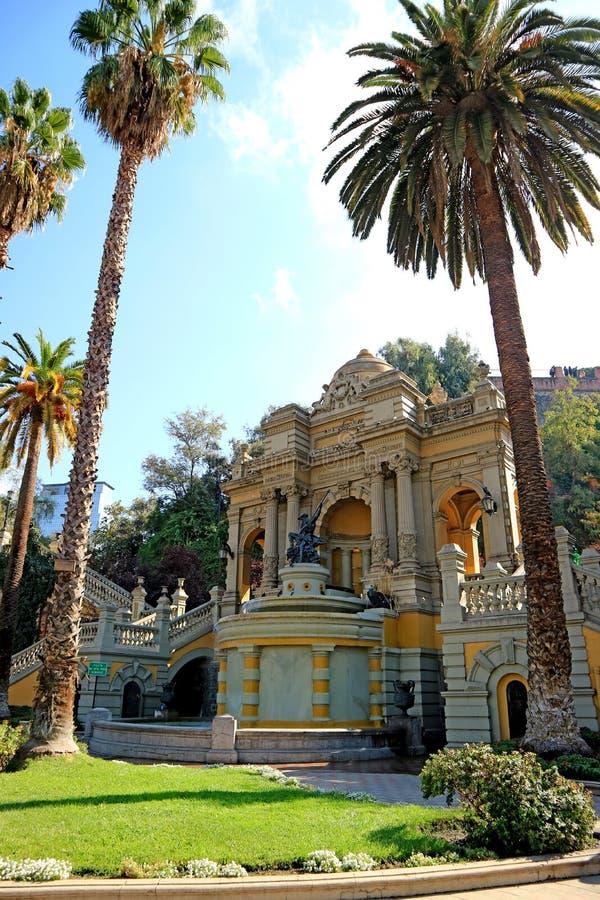 Cerro Santa Lucia, o parque público histórico no Santiago do centro, o Chile fotografia de stock royalty free
