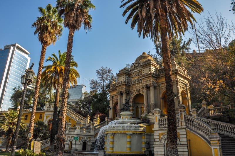 Cerro Santa Lucia w W centrum Santiago, Chile zdjęcia royalty free