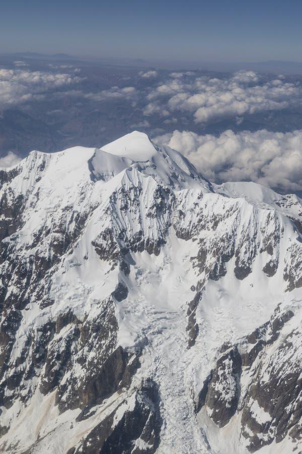 Cerro Tiquimani, Huayna Potosi Кордильеры реальные mountai стоковое фото