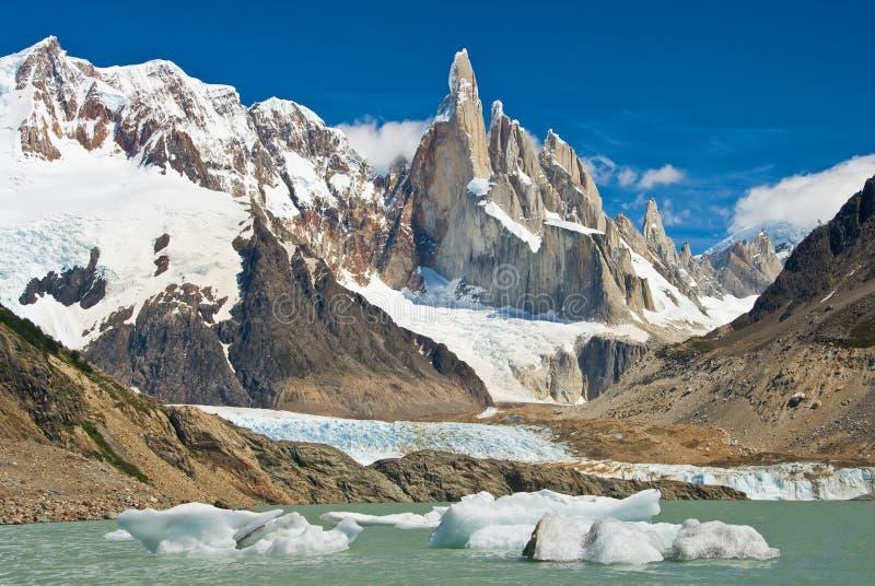 Cerro Torre imagem de stock