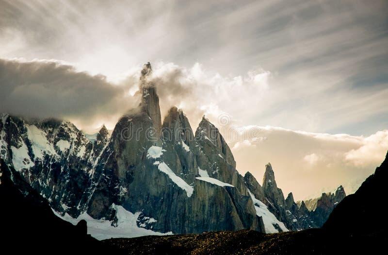 Cerro Torre stock afbeeldingen