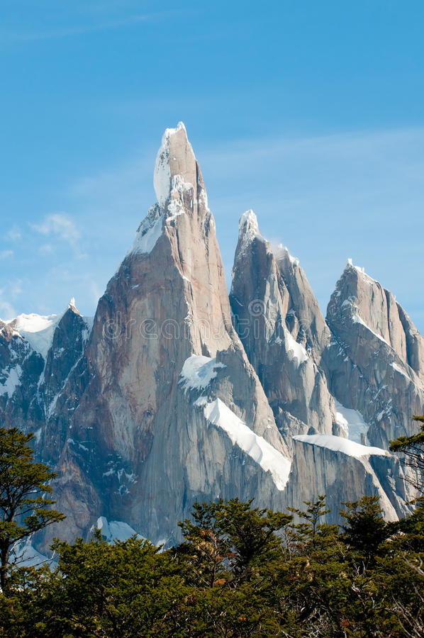 Cerro Torre berg, Patagonië, Argentinië royalty-vrije stock afbeeldingen
