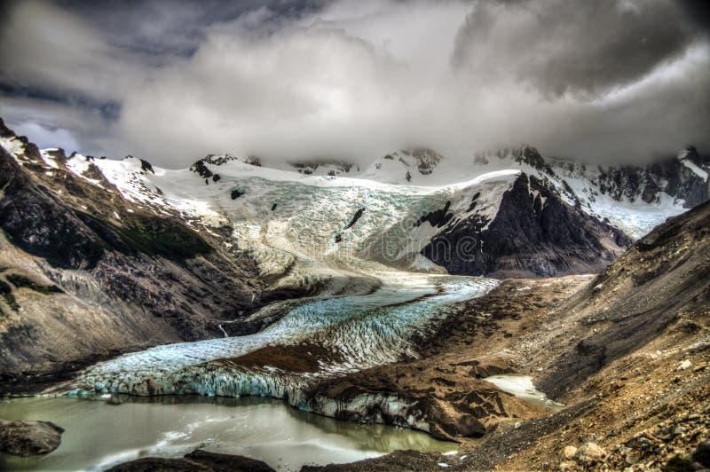 Cerro Torre glacier, Patagonia. The Cerro Torre glacier, in Patagonia. Los Glaciares National Park royalty free stock photography