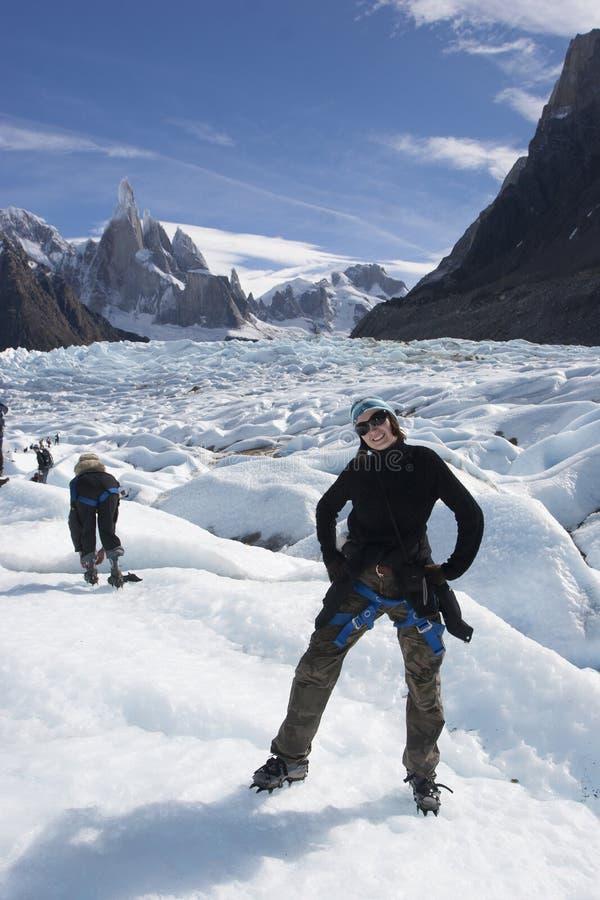 Cerro Torre lodowiec, Patagonia, Argentyna obrazy stock