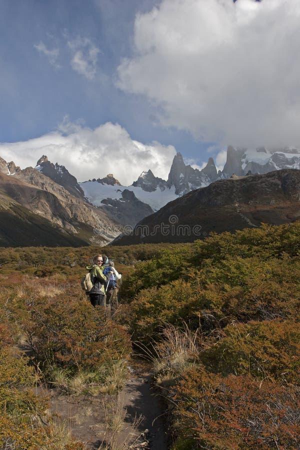 Cerro Torre lodowiec, Patagonia, Argentyna obraz royalty free