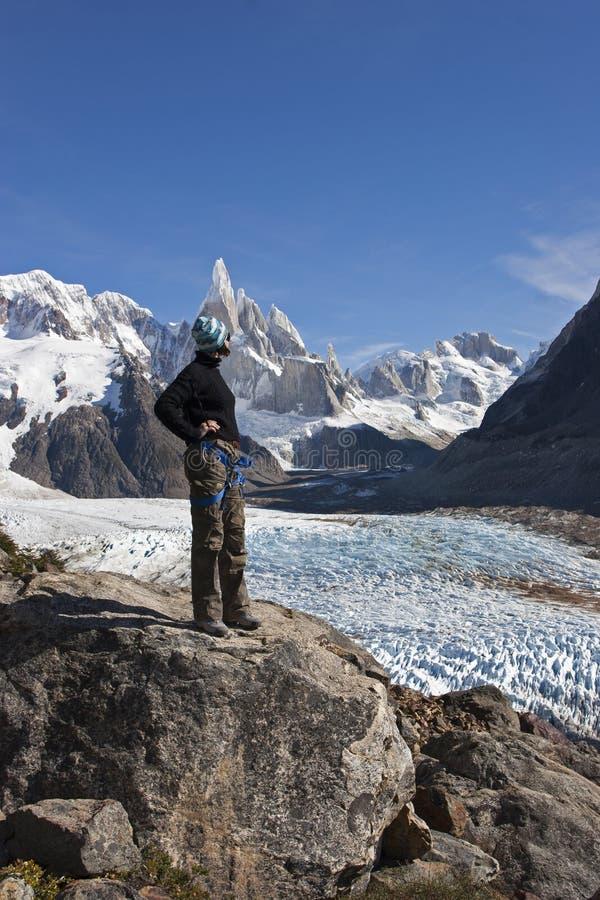 Cerro Torre lodowiec, Patagonia, Argentyna fotografia stock