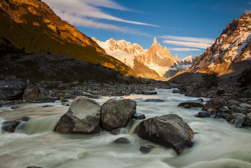 Cerro Torre, Los Glaciares Nationaal Park, Patagonië, stock foto