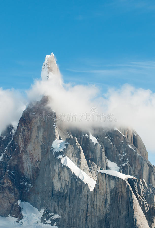 Cerro Torre mountain, Patagonia, Argentina royalty free stock image